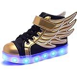 DoGeek Baskets Enfant Lumineuse Garçons Filles - 7 Couleur Chaussure Clignotants LED - USB Rechargeable