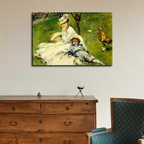 Madame Monetand her Son by Pierre Auguste Renoir Impressionist Art