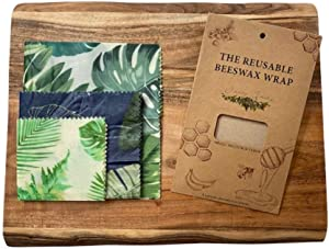 Ivey Jade Premium Beeswax Food Wrap   Reusable Organic Bee Wax Wraps   Eco Friendly Sustainable Storage   No Plastic Zero Waste
