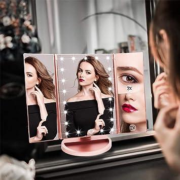 Ymiko Miroir de Maquillage de Voiture de Miroir de courtoisie Miroir cosm/étique de Protection Solaire avec luminosit/é r/églable d/éfinissez et maintenez fermement sur Votre Voiture