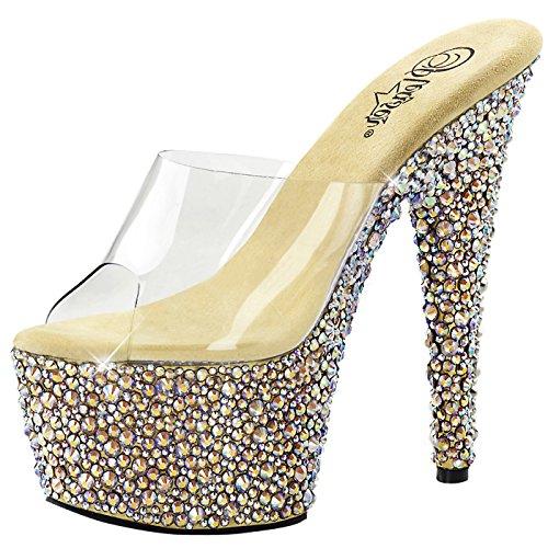 Pleaser - Plus Sexy Que Jamais Plateau Pantoletten Bejeweled-701ms