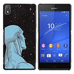 A-type Colorful Printed Hard Protective Back Case Cover Shell Skin for Sony Xperia Z3 D6603 / D6633 / D6643 / D6653 / D6616 ( Man Art Deco Stars Wonder Deep Ufo )
