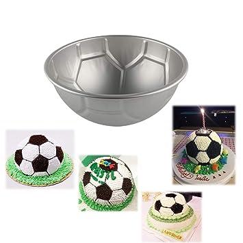 Molde antiadherente para repostería de 2/3/4 pulgadas, diseño de balón de fútbol, 9cm x 4.5cm: Amazon.es: Hogar