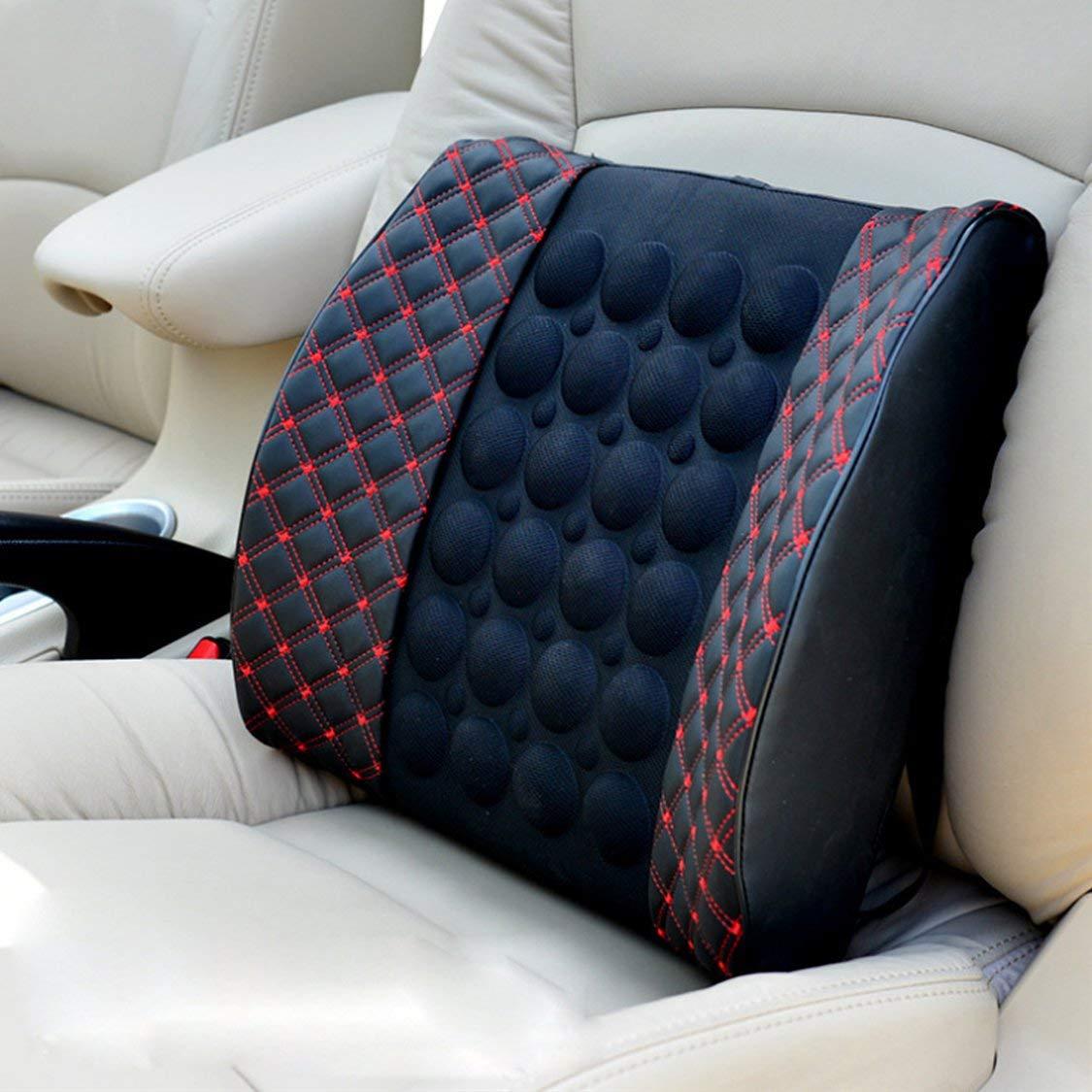 Vige Rotwein Auto Kissen Auto elektrische Massage lenden rote Linie gesundheitspflege Auto Taille Auflage Kissen lendenkissen