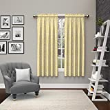 Pairs To Go 15614056X063YEL Pinkney 56-Inch by 63-Inch Window Curtain Pair, Yellow