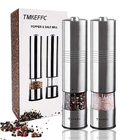 Amazon.com: TMKEFFC - Molinillo eléctrico de sal y pimienta ...