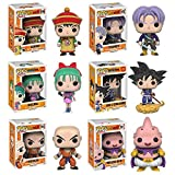 Dragon Ball Z Gohan, Trunks, Bulma, Goku and Nimbus, Krillin, Majin Buu Pop! Vinyl Figures Set of 6