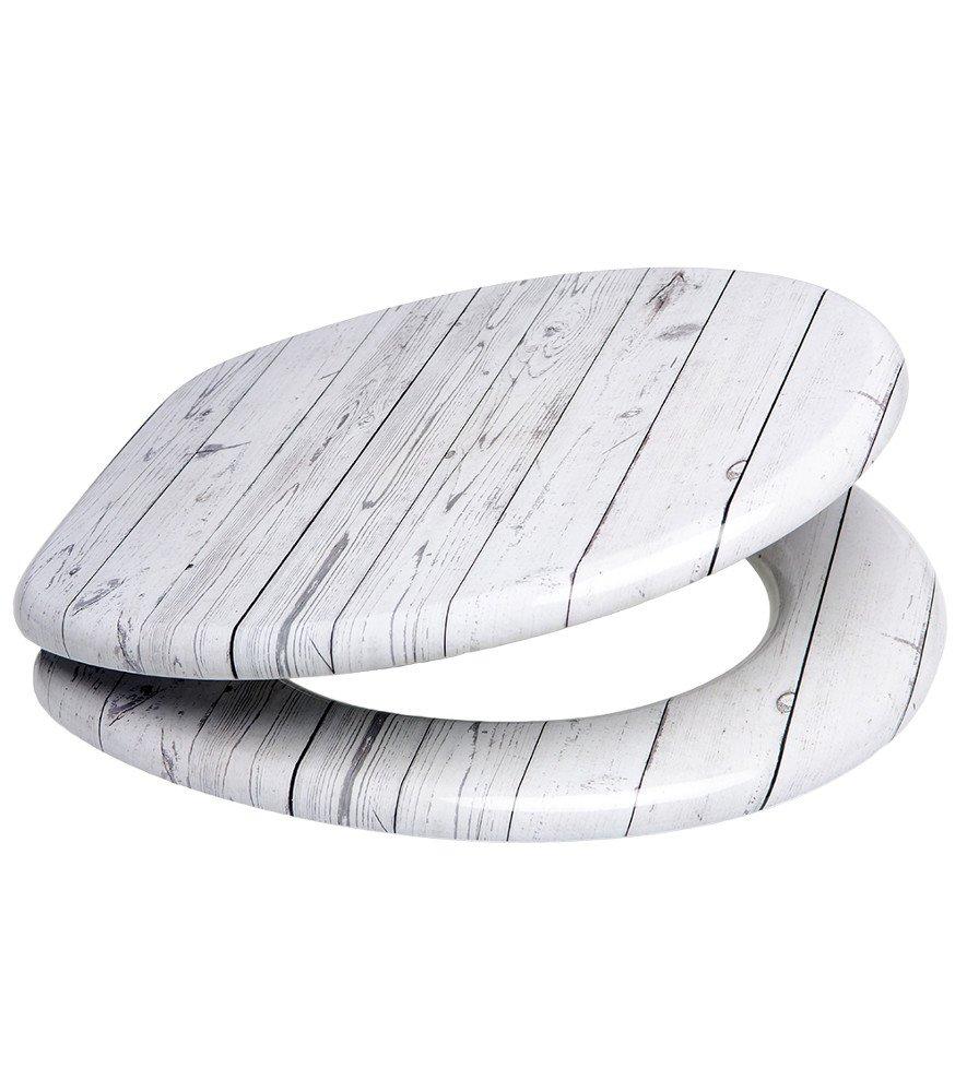 gran selecci/ón de atractivos asientos de inodoro con calidad superior y duradera de madera Asiento para inodoro de cierre suave Estrellas de mar gris