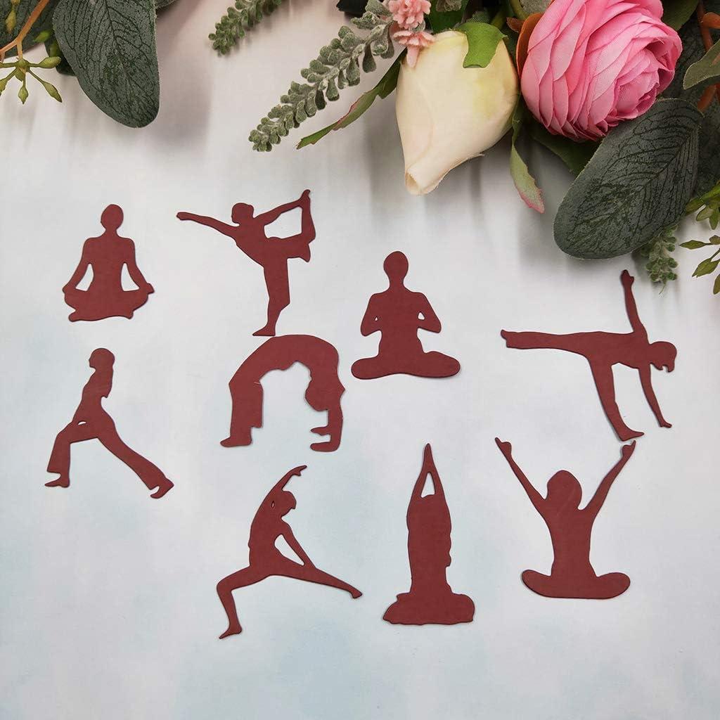 Angelliu Gaufrage Matrice De D/écoupe pour Scrapbooking Bricolage Carte Artisanat Papier,Yoga Girl