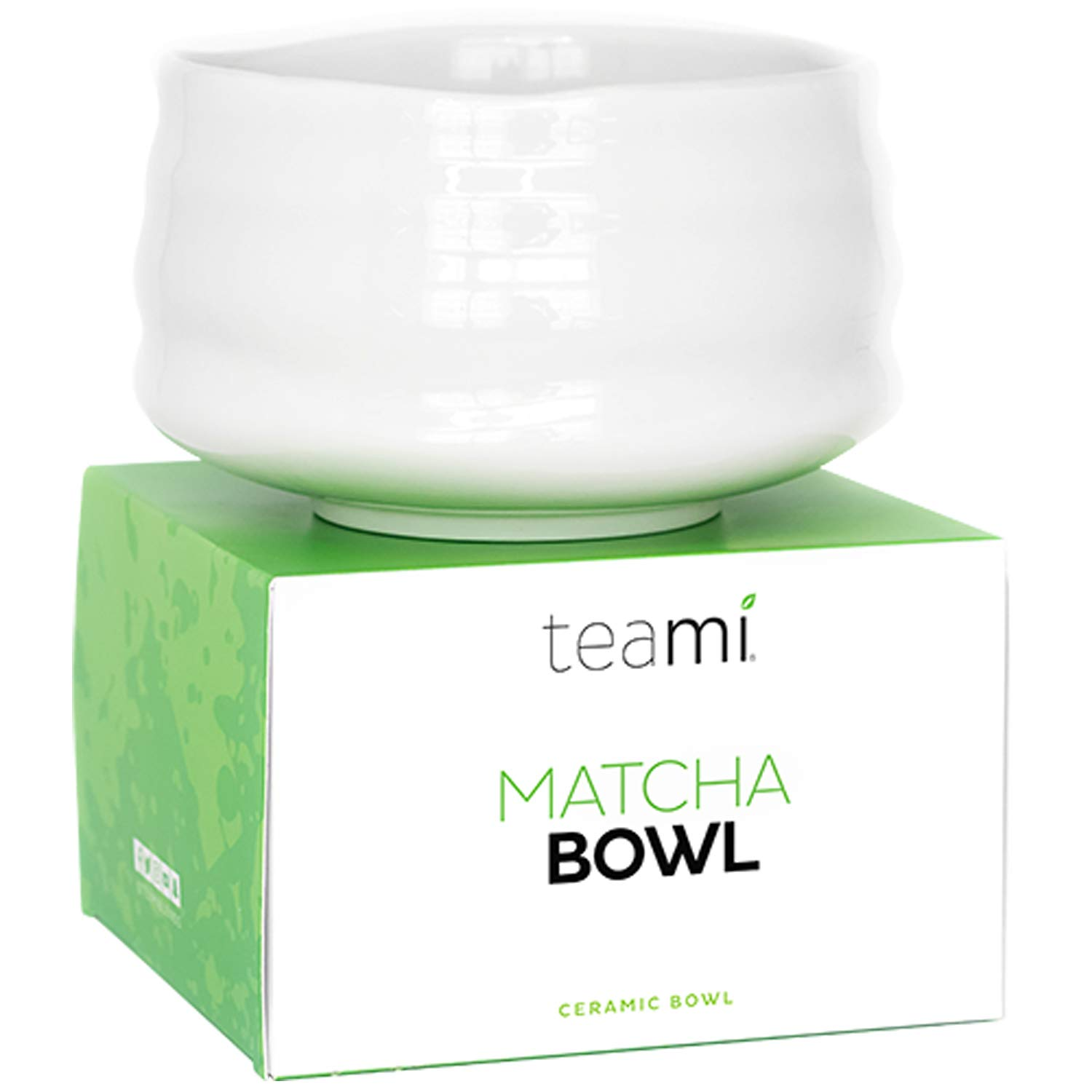 Teami Matcha Green Tea Bowl - Handcrafted for Traditional Japanese Ceremony and Everyday Use (Pearl White) by Teami