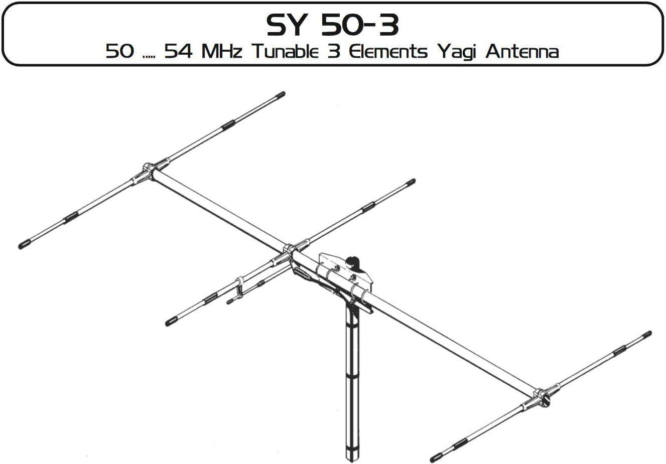 HAMRADIOSHOP Sirio SY50-3 Antena directiva 3 elementos para ...
