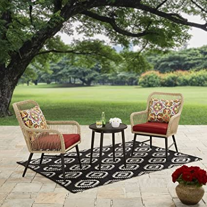 Better Homes And Gardens Patio Outdoor Rawls 3PC Chat Set