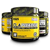 MAN Sports Cla Powder Conjugated Linoleic Acid Healthy Weight Management Supplement, Dorks, 50 Servings, 170 Grams