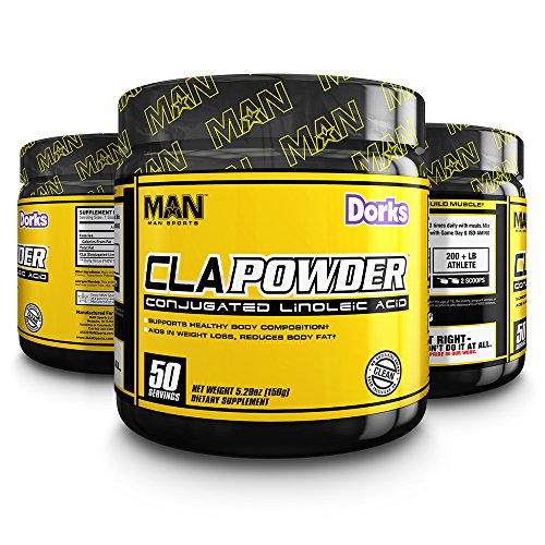 MAN Sports Cla Powder Conjugated Linoleic Acid Healthy Weight Management Supplement, Dorks, 50 Servings, 170 Grams by Man Sports