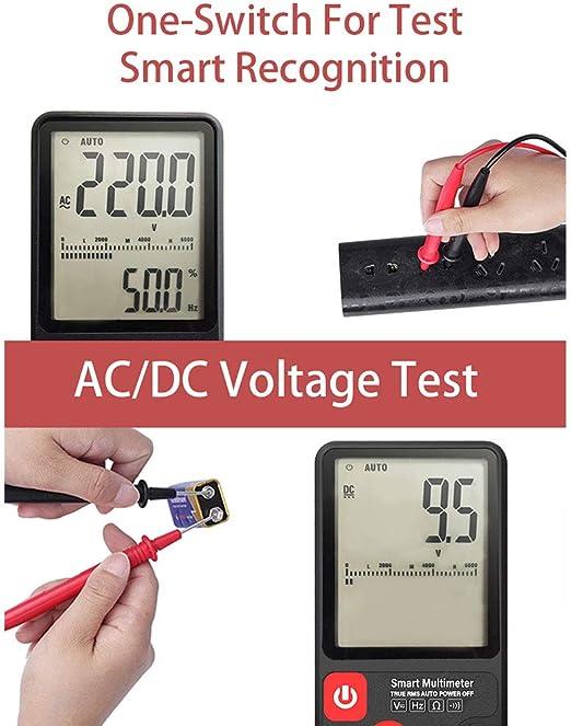 Digital Multimeter Automatisch Digital Multimeter Tragbare Prüfvorrichtung Für Zuhause Digitalmultimeter Zur Messung Der Ac Dc Spannungsfrequenz Mit Lcd Anzeige Baumarkt