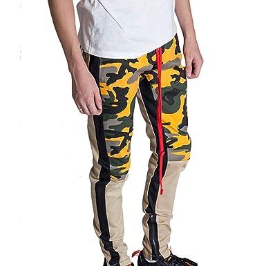 e47c825d485002 Homme Pantalons Coloré(TM) Sarouel Chino Jogging Camouflage Combat Pants  Sport Slim (Kaki