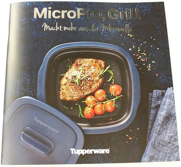 Tupperware Micr OPro Barbacoa Color Azul Oscuro Microondas de Griller Microondas + Libro de Recetas: Amazon.es: Hogar