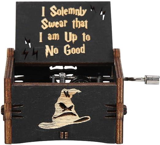 Occitop Vintage Caja de música con manivela de Madera Retro casa Adornos artesanía Regalo de los niños: Amazon.es: Hogar