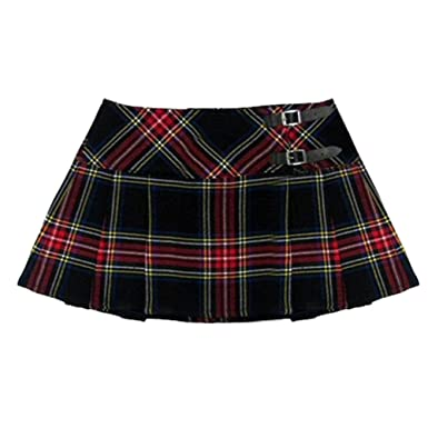 Womens Black/Red Plaid 13