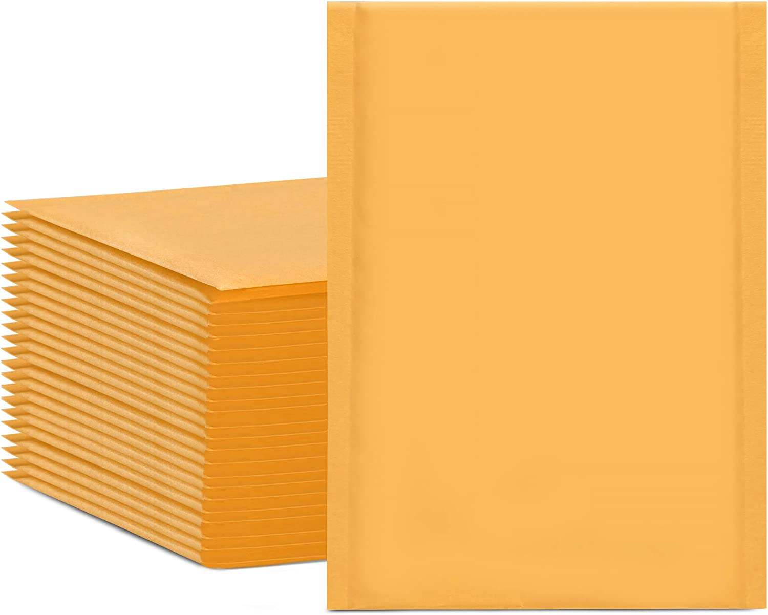 HBlife 6x10 Inches Kraft Bubble Mailers Self Seal Padded Envelopes, Pack of 50