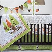 Pam Grace Creations Charming Forest 6 Piece Crib Set, Brown/Tan/Orange