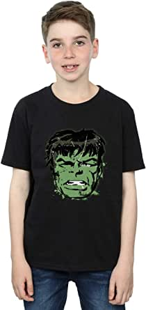 Marvel Jungen Incredible Hulk Distressed Face T-Shirt