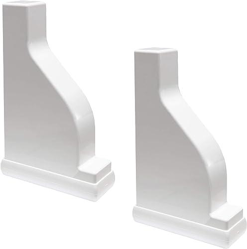 Plum Fittings Decorative White Vinyl Pergola End Cap 2″x 6″ Rail