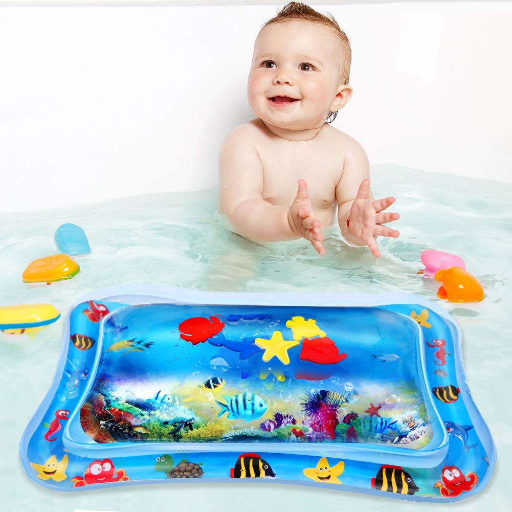 Inflatable Tummy Time Water Mat for Infants /& Toddlers Baby Water Mat Perfect Fun Time Play Activity Center for Your Babys Stimulation Growth