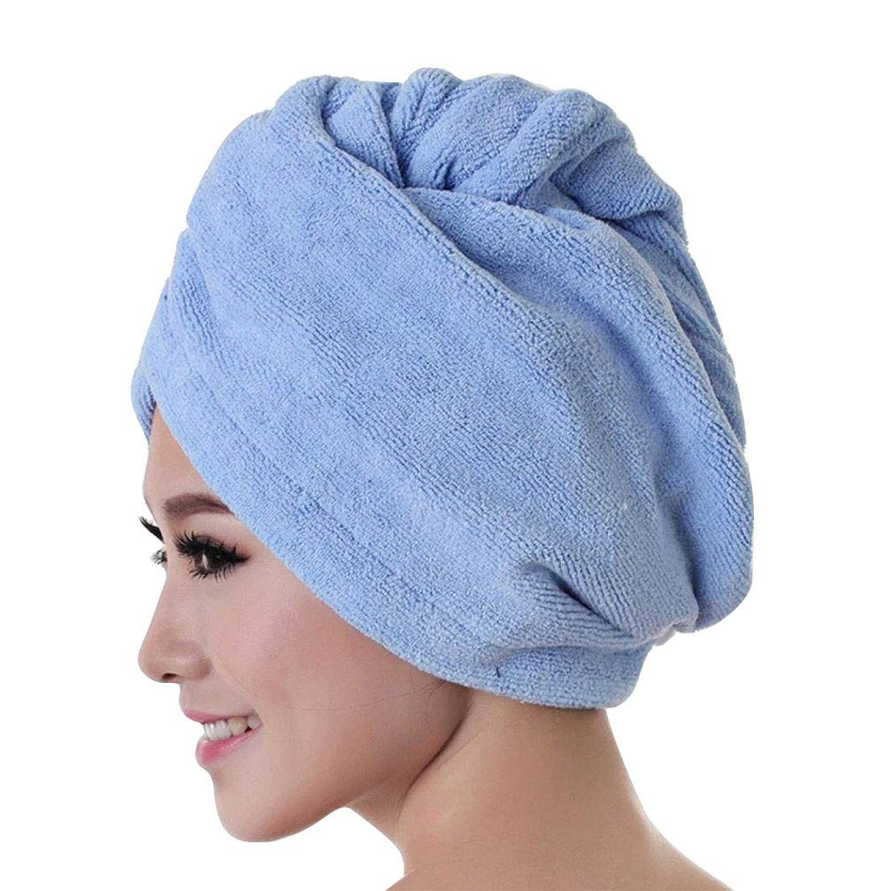 Microfiber Bath Towel Hair Dry Hat Cap Quick Drying Lady Bath Tool PK,Sports Fan Caps & Hats,