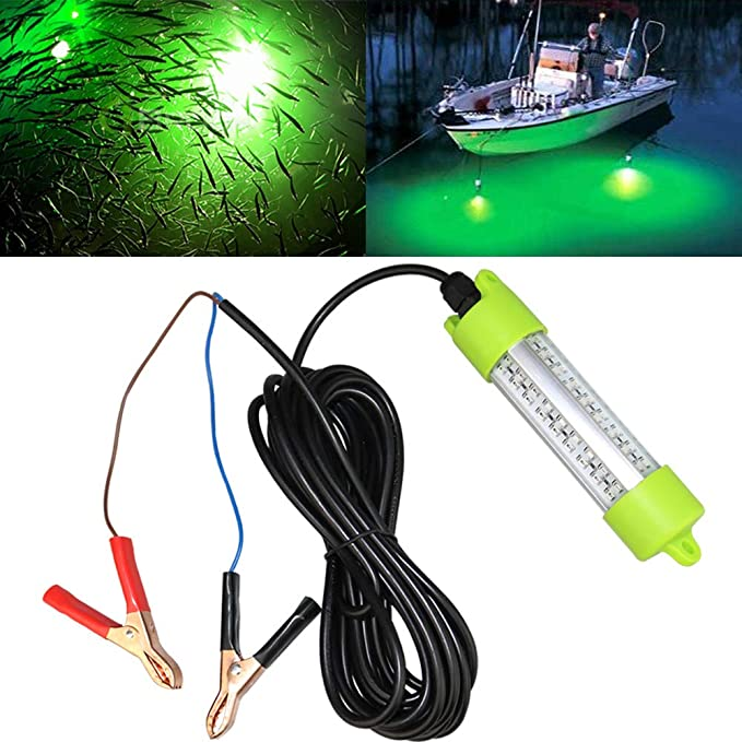 1200LM LED Submersible Fishing Light Underwater Fish Finder Lamp With 5M Cord RA