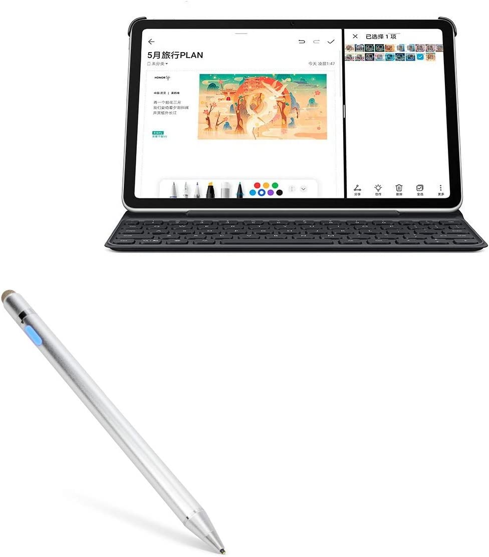 AccuPoint Active Stylus BoxWave Metallic Silver Electronic Stylus with Ultra Fine Tip for Huawei nova 7 Huawei nova 7 Stylus Pen