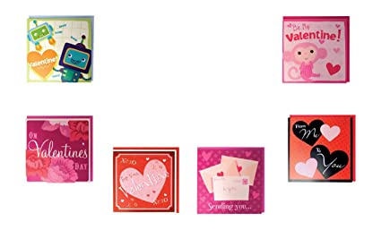 Amazon Com B There Assorted Pop Up Valentines Day Cards Box Set 6