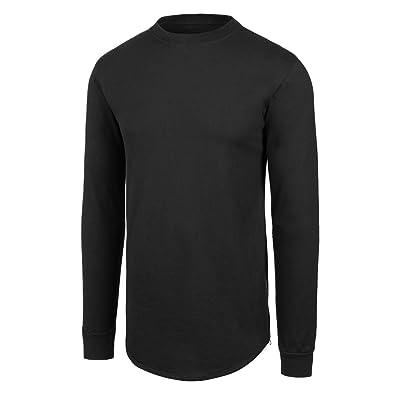 JC DISTRO Mens Hipster Hip Hop Elong Side Zipper Crewneck Extra Long Tshirt Big Size upto 4X
