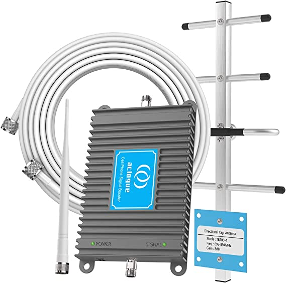 Home Cell Phone Signal Booster for Verizon AT/&T T-Mobile 4G LTE 700MHz Band 12//13//17 Cellular Repeater Amplifier Kit with Outdoor Directional Yagi and Indoor Omni-Ceiling Antenna Supports Volte
