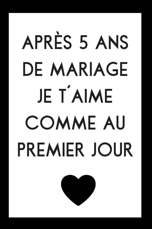 5 Ans De Mariage Idée Cadeau CarDe Notes Pour Anniversaire De Mariage: Idée Cadeau 5 Ans De