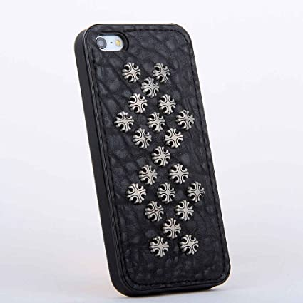 amazon com metal studded leather silicone back cases covers forimage unavailable image not available for color metal studded leather silicone back cases covers for apple iphone 5