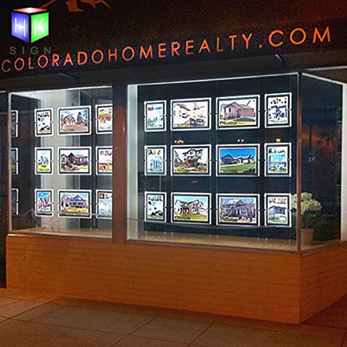 A4 Real Estate agent Window Hanging Led display Sign