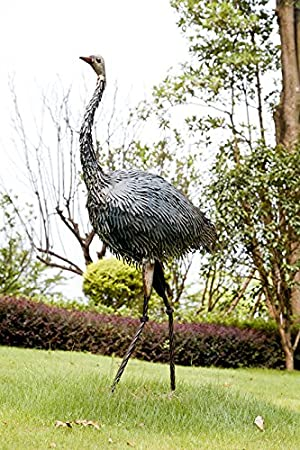 Dipamkar Metal Garden Ornaments Large Ostrich Sculpture Bird