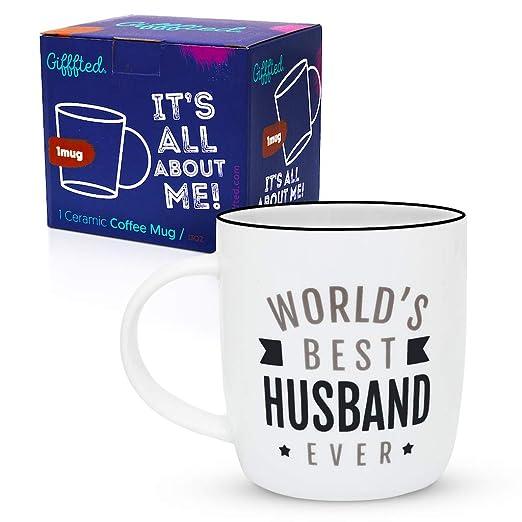Gifffted Taza de Café para el Mejor Marido del Mundo ...