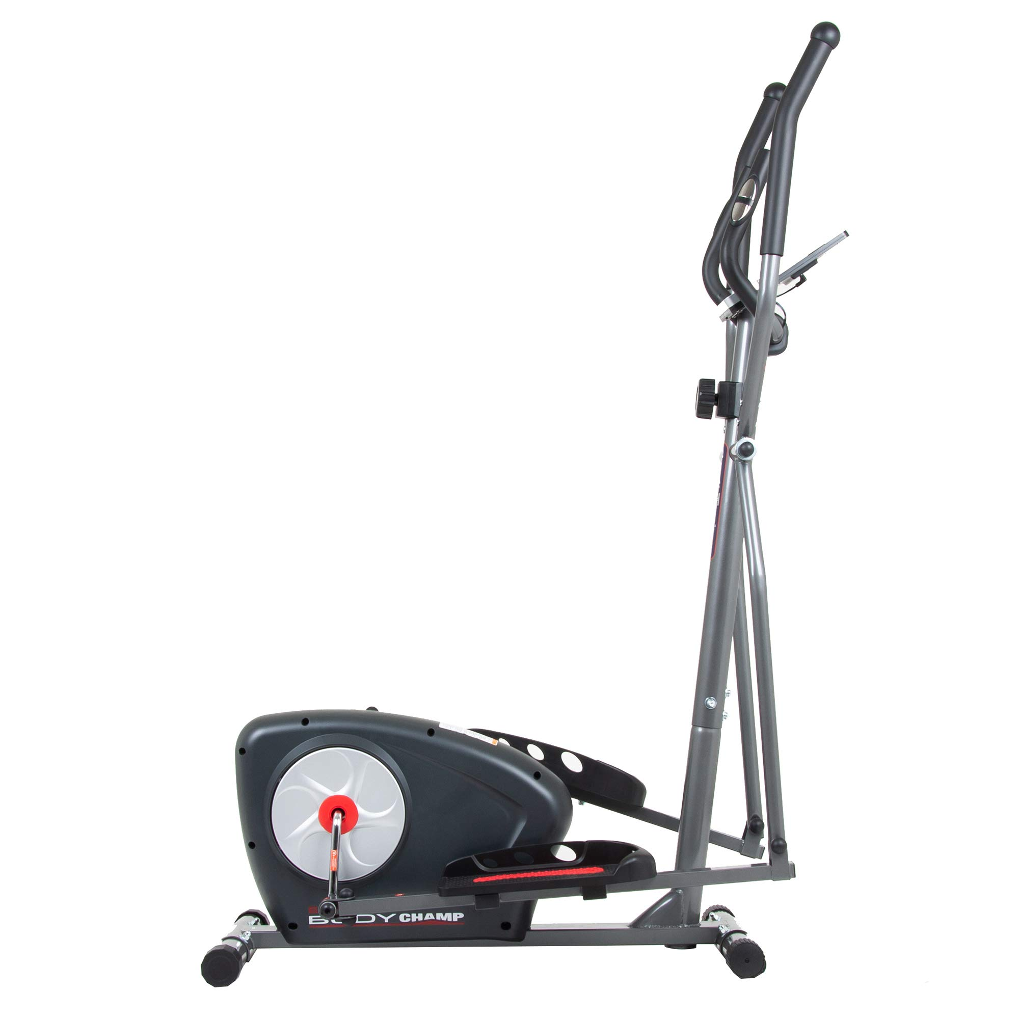 Body Champ New Elliptical Machine Trainer Magnetic Smooth Quiet Driven with LCD Media Holder Monitor and Pulse Rate Grips BR2117 by Body Champ (Image #1)