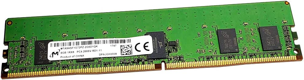 Server Memory Ram Equivalent to OEM 7X77A01301 AT350955SRV-X1R5 DDR4 PC4-21300 2666Mhz ECC Registered RDIMM 1Rx8 A-Tech 8GB Module for Lenovo ThinkSystem SR590