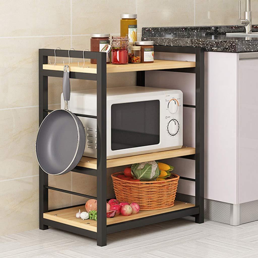 棚板 - キッチンフロアスタンドキッチン収納ラック3段収納ラックオーブンラック多機能 (サイズ さいず : 80cm*40cm*80cm) B07J3D9FVG  80cm*40cm*80cm