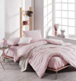 EnLora Home Super King Quilt Cover Set, Rose