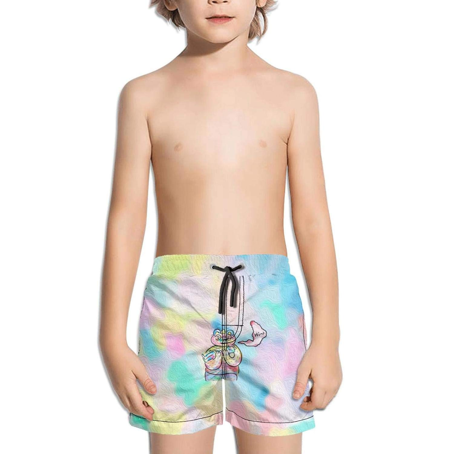 Boys Board Shorts Bears Bear Head Repeat Quick Dry Bathing Suits Beach Board Shorts
