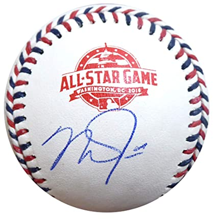 e891771a5b2 Mike Trout Autographed Official 2018 All Star Game Baseball Los Angeles  Angels MLB Holo