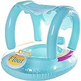 bote bóia assento bebes com cobertura protege do sol com protetor para sol inflável removível para mar ou piscina barquinho c