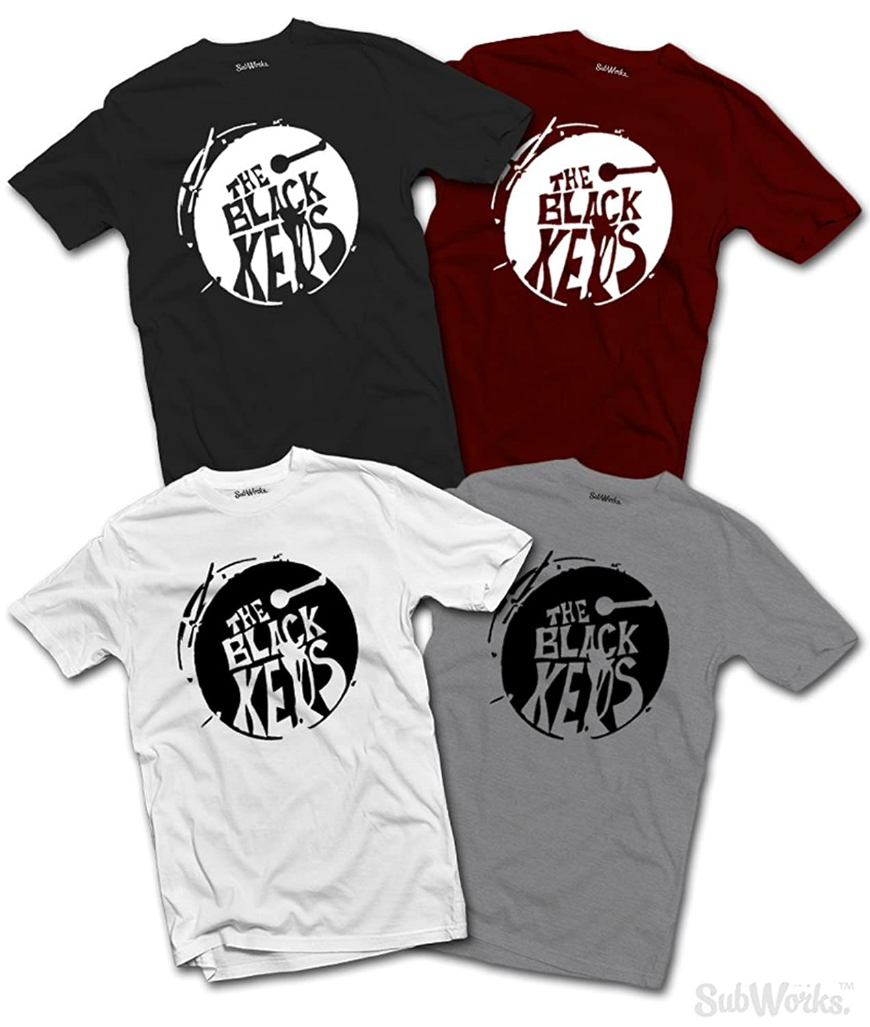 Black keys t shirt uk - The Black Keys T Shirt Turn Blue Band Music Amazon Co Uk Kitchen Home
