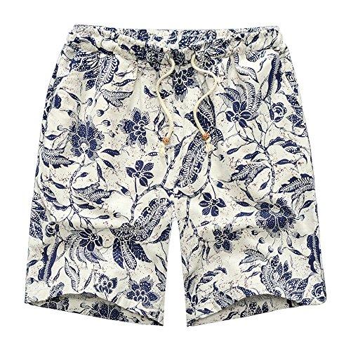 Bozevon Costume Tasca Pantaloncini f Spiaggia Sport Leisure Regolabile Pantaloni Bagno Multicolore Da Surf Traspirante Uomo Avere rwfxHqr