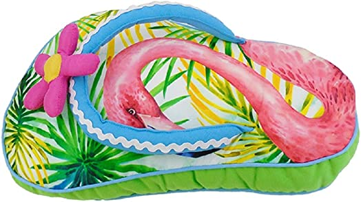 Chesapeake Bay Flip Flop Pillow 70151 11 Inches x 18 Inches Green