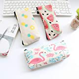Potelin Students Canvas Pencil Case Pen Bag Pouch